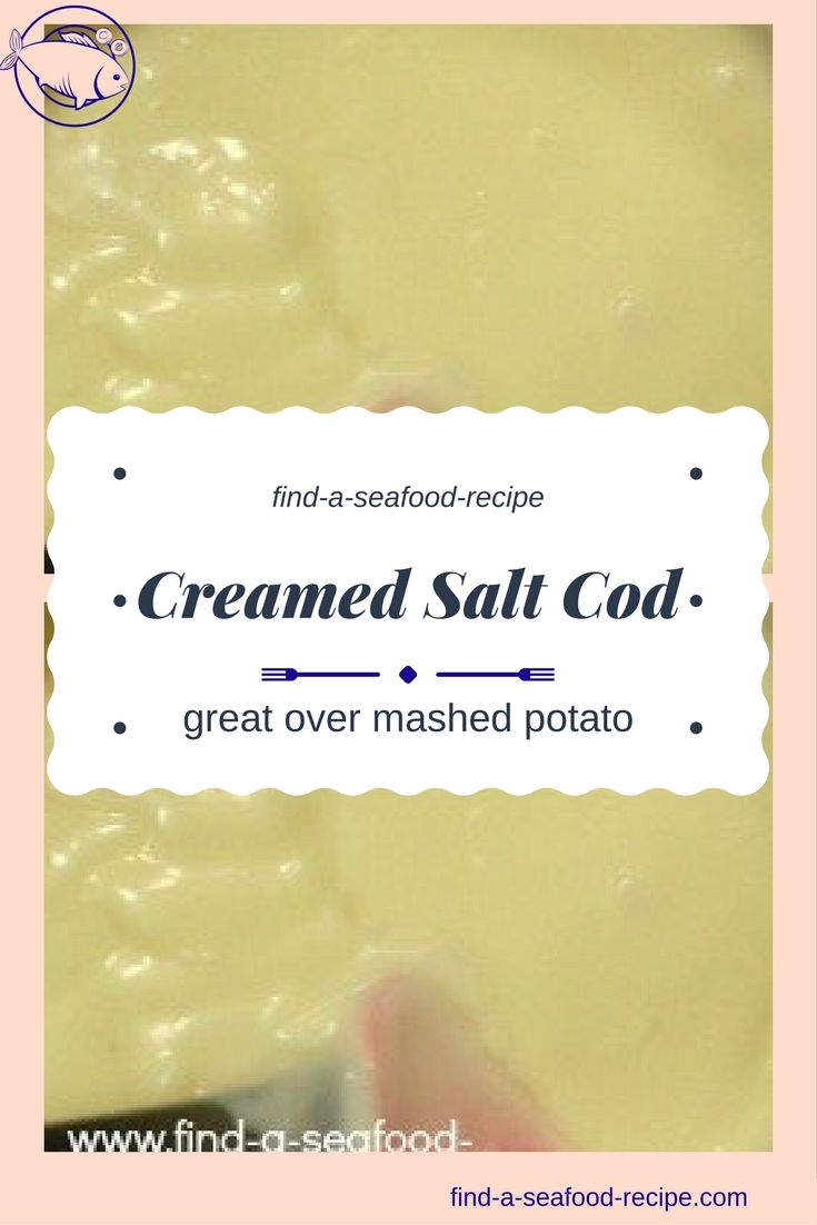 creamed salt cod recipe