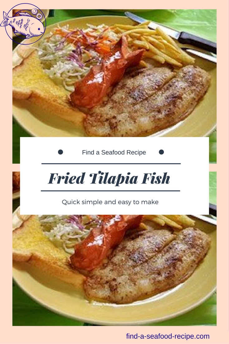 Fried tilapia fish recipes for Is tilapia fish good for you