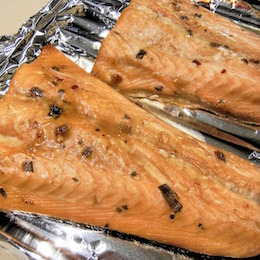 Recipe for Baked Salmon Honey Mustard Roast Salmon