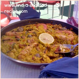 Recipe for Spanish Seafood Paella